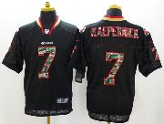 mens nfl San Francisco 49ers #7 Colin Kaepernick black (2014 camo number fashion) elite jersey