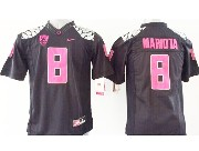 Youth Ncaa Nfl Oregon Ducks #8 Mariota Black (pink Number) Limited Jersey