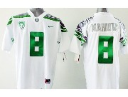 Youth Ncaa Nfl Oregon Ducks #8 Mariota White (green Number) Jersey