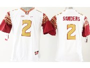 Youth Ncaa Nfl Florida State Seminoles #2 Sanders White (gold Number) Jersey