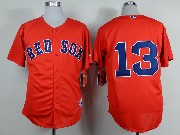 mens mlb boston red sox #13 orange (2014 new no name) Jersey (sn)