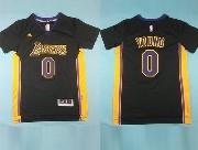 Mens Nba Los Angeles Lakers #0 Nick Black (short Sleeve) Jersey