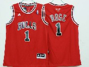 Mens Nba Chicago Bulls #1 Rose (bulls) Red Revolution 30 Jersey (p)