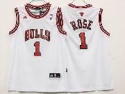 Mens Nba Chicago Bulls #1 Rose (bulls) White Revolution 30 Jersey (p)