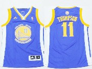youth nba Golden State Warriors #11 Klay Thompson blue jersey
