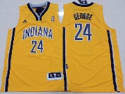 Youth Nba Indiana Pacers #24 George Yellow Jersey