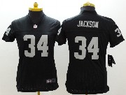 Women  Nfl Oakland Raiders #34 Bo Jackson Black Limited Jersey
