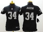 Women  Nfl Oakland Raiders #34 Bo Jackson Black Limited Jersey