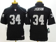 Youth Nfl Las Vegas Raiders #34 Bo Jackson Black Limited Jersey