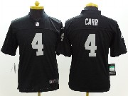 youth nfl Oakland Raiders #4 Derek Carr black limited jersey