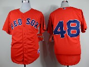 Mens mlb boston red sox #48 sandoval red Jersey
