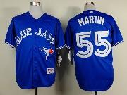 Mens mlb toronto blue jays #55 martin blue 2012 new style Jersey