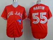 Mens mlb toronto blue jays #55 martin red 2012 new style Jersey