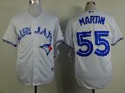 Mens mlb toronto blue jays #55 martin white 2012 new style Jersey