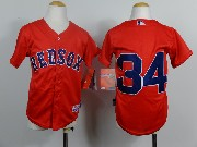 Mens mlb boston red sox #34 sandoval red (no name) Jersey
