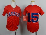 Mens mlb boston red sox #15 pedroia red (no name) Jersey