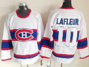 Mens nhl montreal canadiens #10 lafleur white (white number) classics throwbacks Jersey