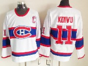 Mens nhl montreal canadiens #11 koivu white (red number) classics throwbacks Jersey