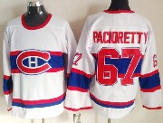 Mens nhl montreal canadiens #67 pacioretty white (red number) classics throwbacks Jersey