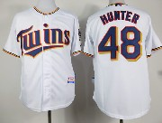 mens mlb minnesota twins #48 hunter white (2015 new) Jersey
