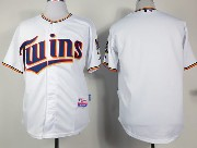 mens mlb minnesota twins (blank) white (2015 new) Jersey