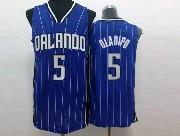 Mens Nba Orlando Magic #5 Oladipo Blue Stripe Jersey