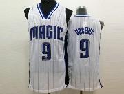Mens Nba Orlando Magic #9 Vucevic White Stripe Jersey