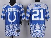 Mens Nfl Indianapolis Colts #21 Davis Blue 2015 Noble Fashion Elite Jersey