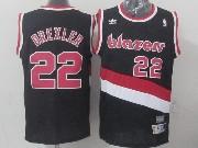 Mens Nba Portland Trail Blazers #22 Drexler Black (blazers) Throwbacks Jersesy