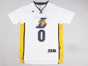 Mens Nba Los Angeles Lakers #0 Nick White (short Sleeve) Jersey
