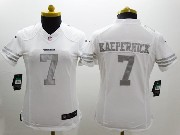 women  nfl San Francisco 49ers #7 Colin Kaepernick white (silver number) platinum limited jersey