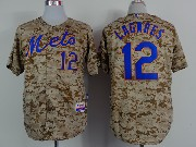 Mens mlb new york mets#12 lagares camouflage painting Jersey