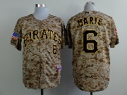 Mens mlb pittsburgh pirates #6 marte camouflage painting Jersey