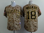 Mens mlb pittsburgh pirates #18 walker camouflage painting Jersey