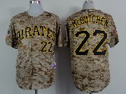 Mens mlb pittsburgh pirates #22 andrew mccutchen camouflage painting Jersey