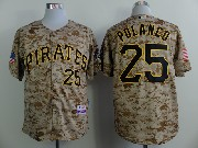 Mens mlb pittsburgh pirates #25 polanco camouflage painting Jersey