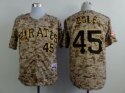 Mens Mlb Pittsburgh Pirates #45 Cole Camouflage Painting Jersey