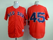 Mens mlb boston red sox #45 pedro martinez red (no name) Jersey