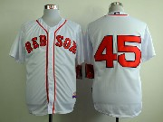 Mens mlb boston red sox #45 pedro martinez white (no name) Jersey