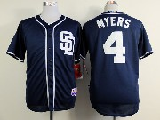 Mens mlb san diego padres #4 myers dark blue Jersey