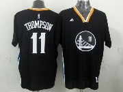 mens nba Golden State Warriors #11 Klay Thompson black (short sleeve) jersey