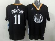 mens nba Golden State Warriors #11 Klay Thompson black (short sleeve) jersey