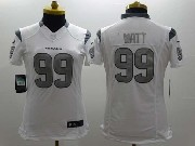 women  nfl Houston Texans #99 JJ Watt white (silver number) game jersey
