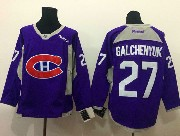 Mens reebok nhl montreal canadiens #27 galchenyuk purple (2015 new train) Jersey