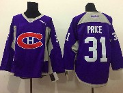 mens reebok nhl Montreal Canadiens #31 Carey Price purple (2015 new train) jersey