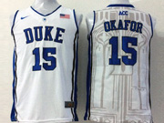 Mens Ncaa Nba Duke Blue Devils #15 Okafor White Jersey