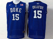 Mens Ncaa Nba Duke Blue Devils #15 Okafor Blue Jersey