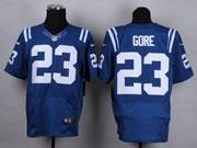 Mens Nfl Indianapolis Colts #23 Gore Blue Elite Jersey
