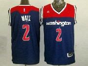 Mens Nba Washington Wizards #2 John Wall Blue 2014-15 New Swingman Jersey