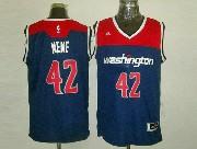 Mens Nba Washington Wizards #42 Nene Blue 2014-15 New Swingman Jersey